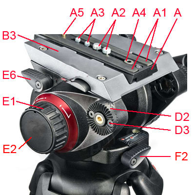 Manfrotto 504HD side parts