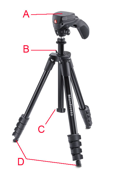 Manfrotto MKC3-H01 Black Tripod