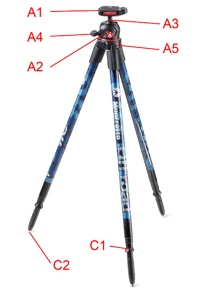 Manfrotto Off Road Tripod Parts