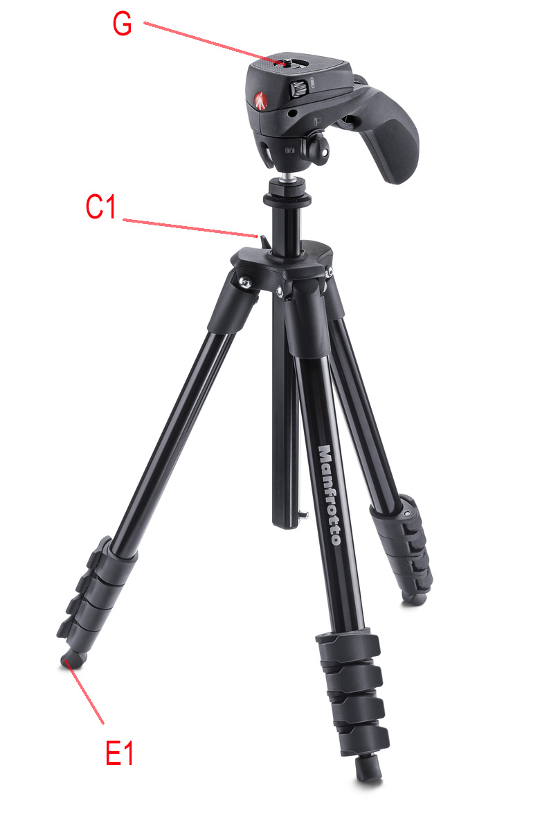 MANFROTTO COMPACT ACTION TRIPOD IN BLACK