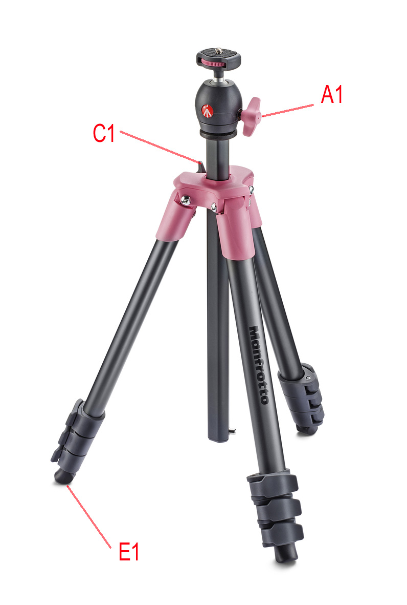 manfrotto compact light tripod in pink