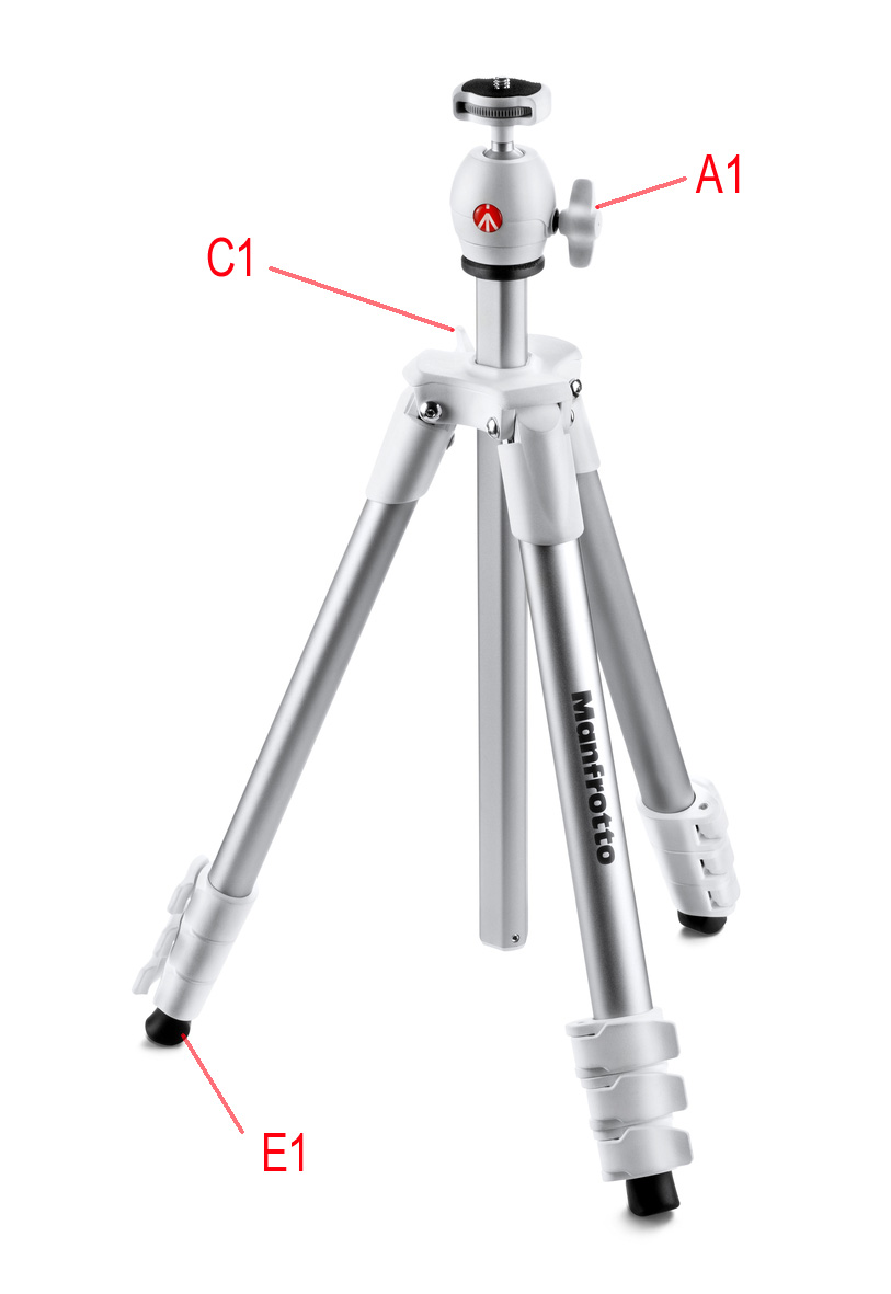 manfrotto compact light tripod in white